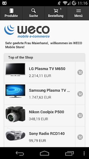 WECO E-Commerce Mobile SMP