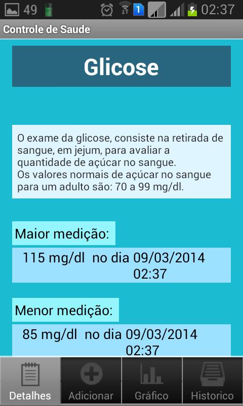 Controle de Saúde - screenshot