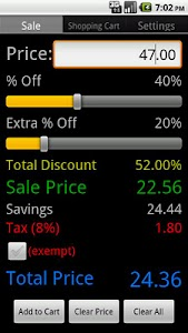 Sale & Discount Calculator screenshot 0