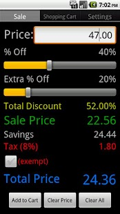 Sale & Discount Calculator- screenshot thumbnail
