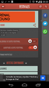 Festivales - screenshot thumbnail
