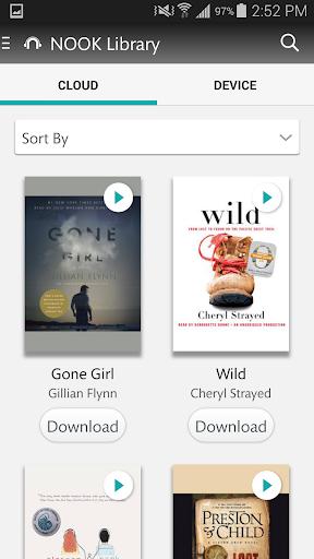 NOOK Audiobooks download offline 2