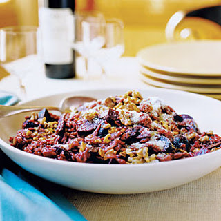Zinfandel Risotto with Roasted Beets and Walnuts