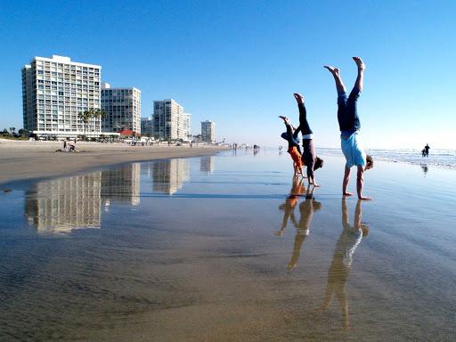 San-Diego-Coronado-handstand - Handstands on the beach at Coronado, California.