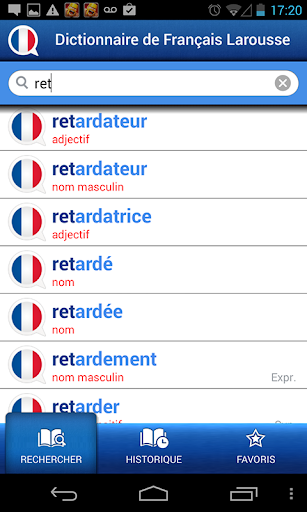 Screenshot for French Larousse dictionary in Hong Kong Play Store