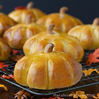 Pumpkin Style Sweet Potato Brioche Rolls