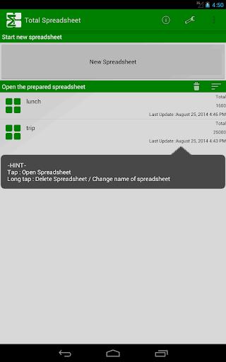Total Spreadsheet 3.0 Windows u7528 7