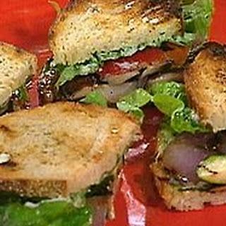 Grilled vegetable Dagwood sandwich
