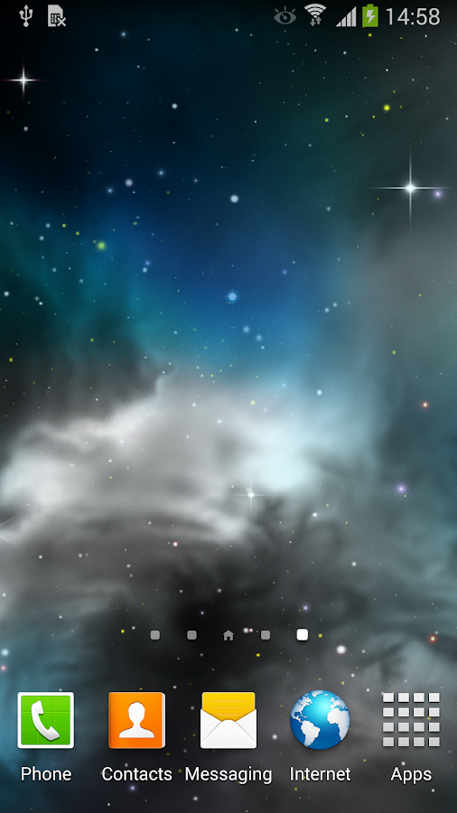 Galaxy 3D Parallax Wallpaper - screenshot