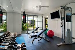 The resort gym
