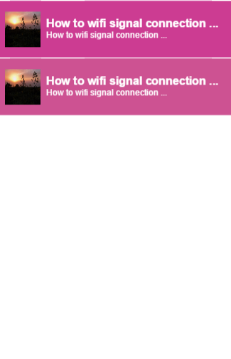 How to wifi signal connection
