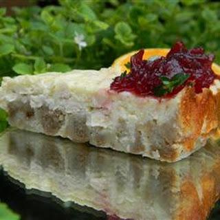 Leftover Turkey Cheesecake.