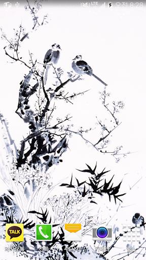 small bird inkwash wallpaper