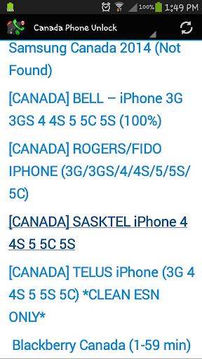 Canada Phone Unlock  screenshots 18