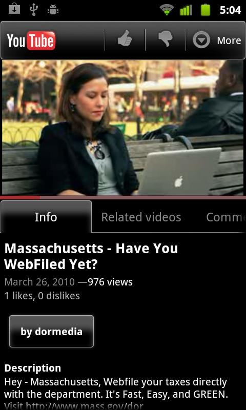 Massachusetts WebFile Mobile - screenshot