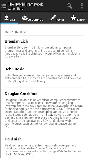 The Hybrid Framework Demo App
