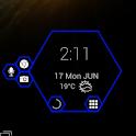 Hex Clock Dock - UCCW Skin icon