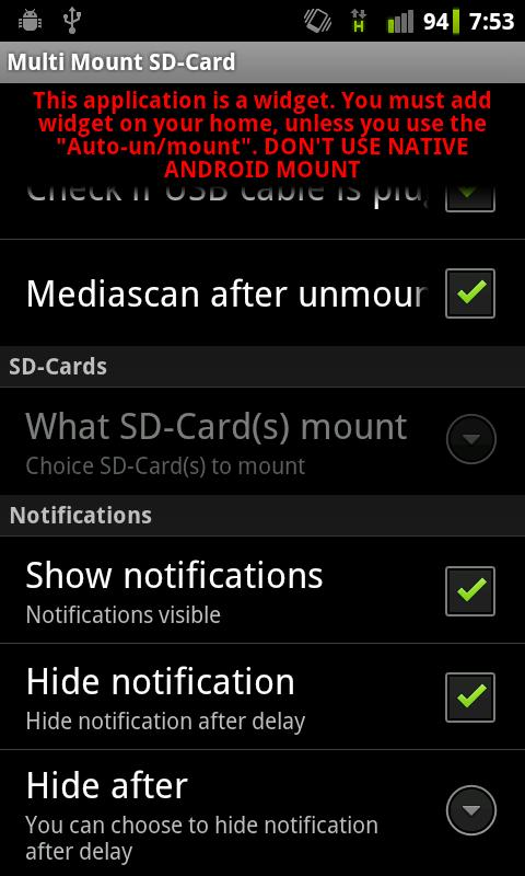 Multi Mount SD-Card - screenshot