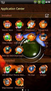 Butterfly GO SMS Theme - screenshot thumbnail