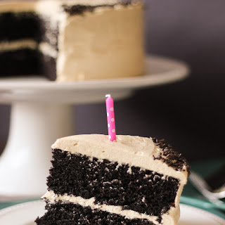 Chocolate Cake with Peanut Butter Buttercream Frosting