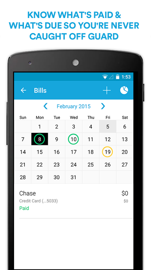 Mint Bills: Bill Pay & Money- screenshot