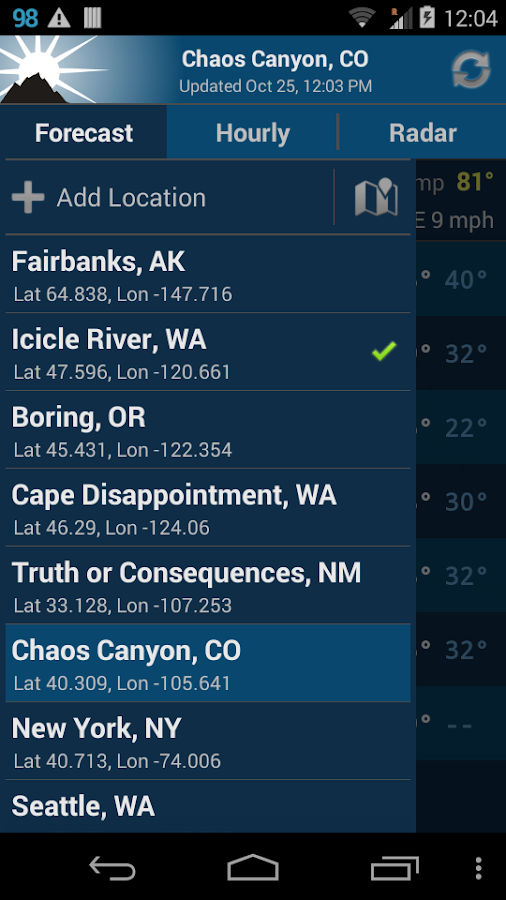 NOAA Weather Unofficial - screenshot