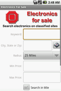 Electronics For Sale - screenshot thumbnail