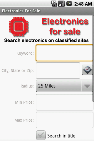 Electronics For Sale - screenshot