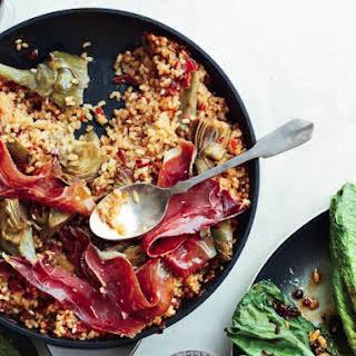 Iberian Ham And Artichoke Rice.