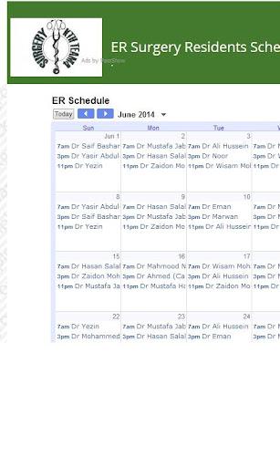 SurgeryKTH Schedules