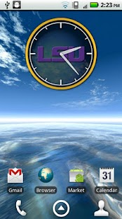 LSU Tigers Clock Widget- screenshot thumbnail