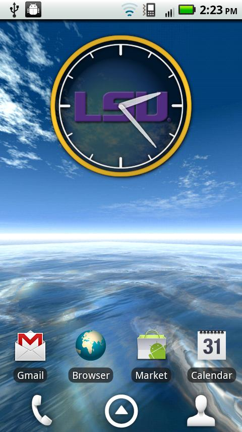 LSU Tigers Clock Widget - screenshot