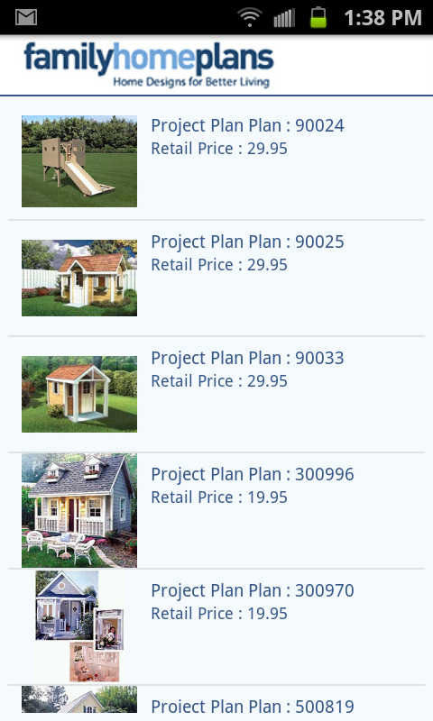 House Plans by FamilyHomePlans - screenshot