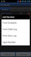Screenshot of Easy BlackList - Call Sms -