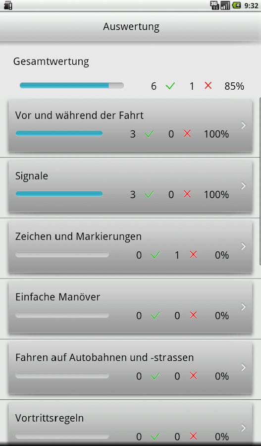 e.driver 2015 Theorieprüfung- screenshot