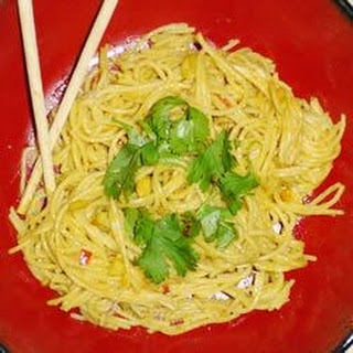 Spaghetti With Peanut Butter Sauce.