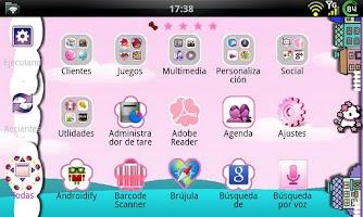Screenshot of GO Launcher Elegant Pink Theme
