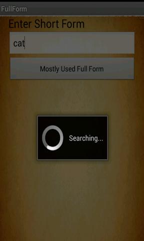 Screenshots for Full Form