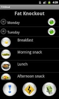 Screenshot of Fitmeal extreme diet meal plan