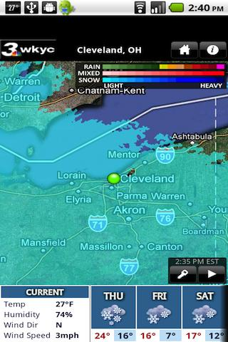WKYC Radar- screenshot