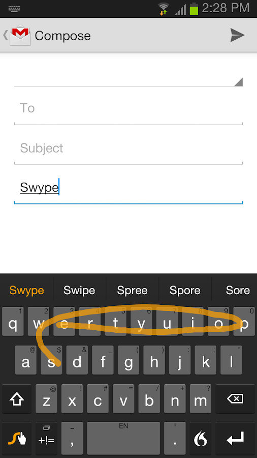 Swype Keyboard - screenshot