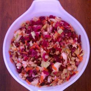 Cranberry Walnut Slaw