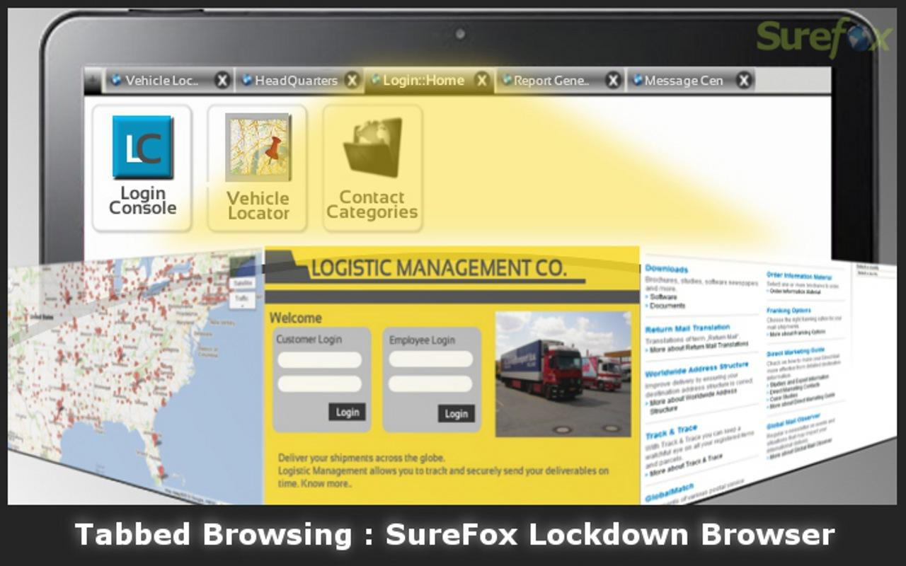 SureFox Kiosk Browser Lockdown- screenshot