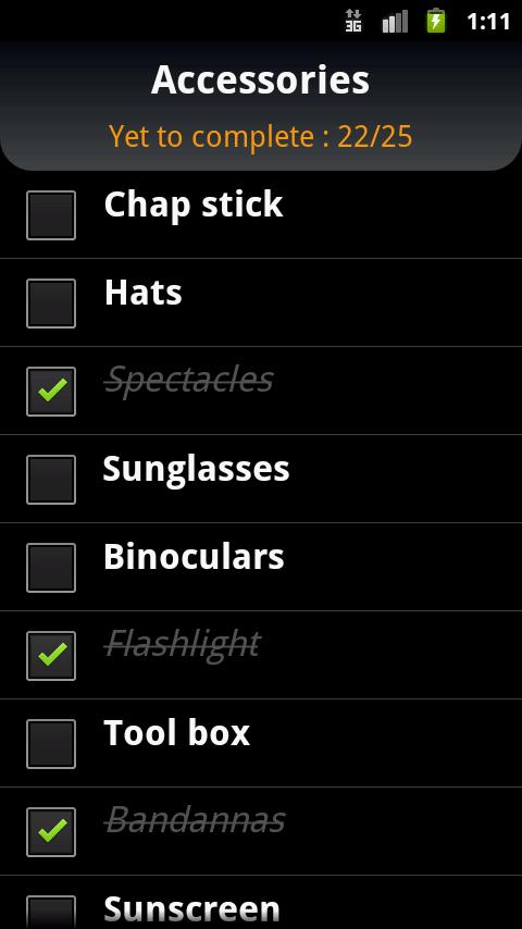 Ultimate Checklist - screenshot