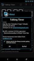 Screenshot of Talking Timer
