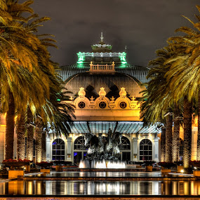Emperor's Place by Alexius van der Westhuizen - Buildings & Architecture Office Buildings & Hotels ( water, winning, caesar's chariot, hdr, fountain, palm trees, money, casino, night, hotel,  )
