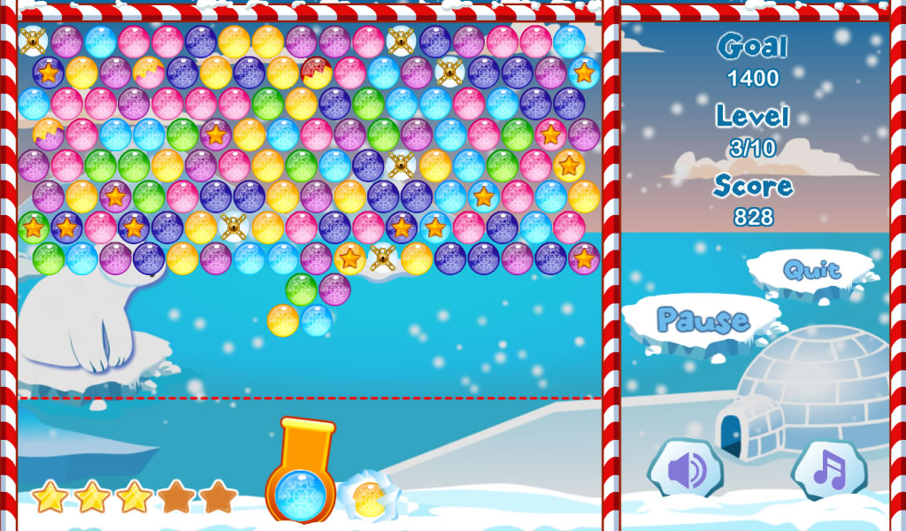 Winter Bubble Free- screenshot