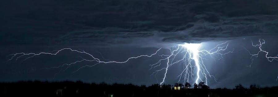 Zeus by Inderjeet Singh - Landscapes Weather ( lightning, nature, nature up close, weather, nature photography, landscapes )