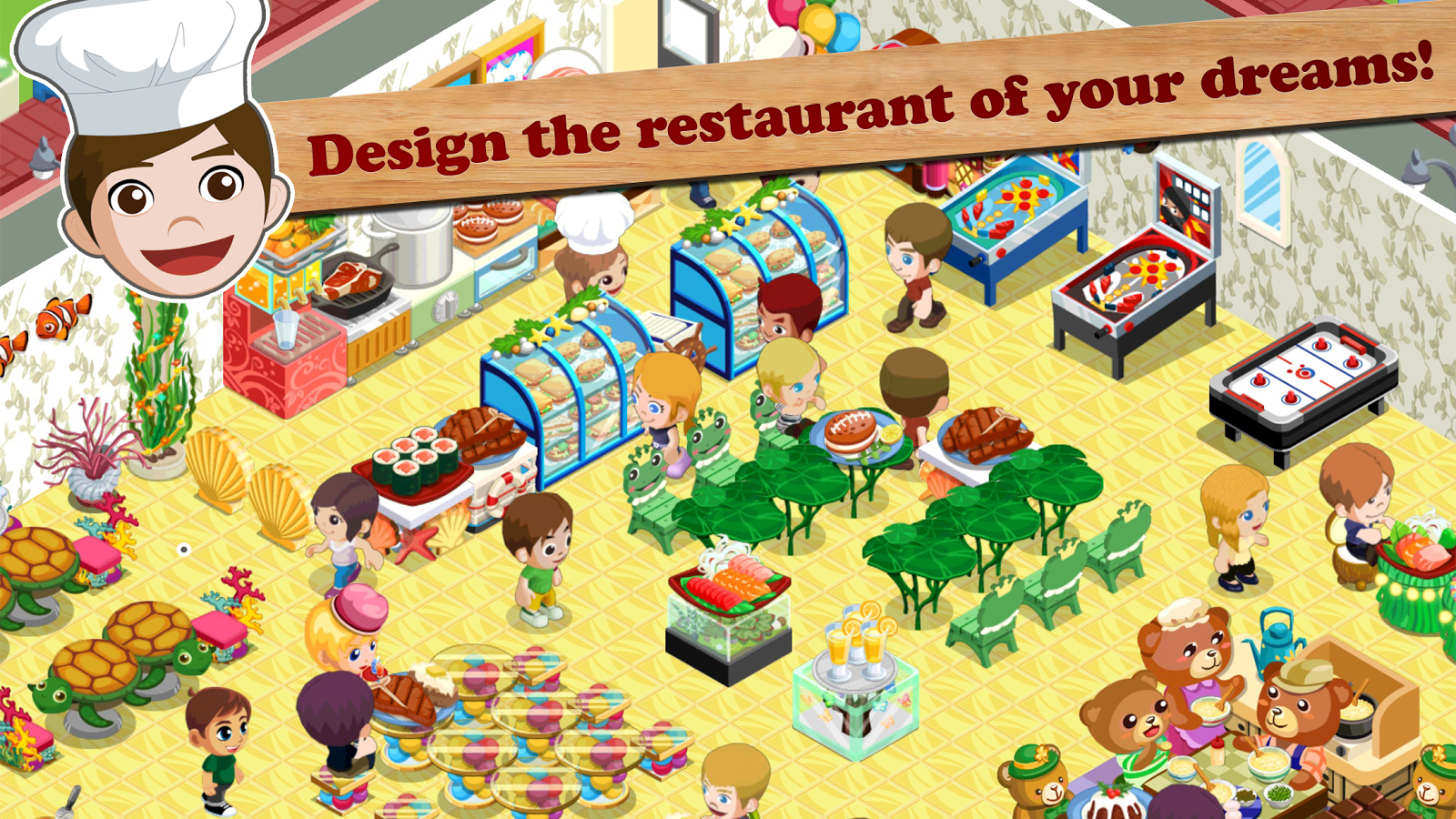 Na name all the fast food restaurants - Restaurant Story Fast Food Screenshot