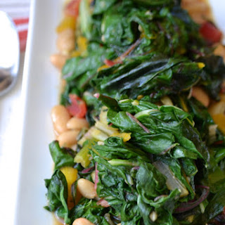 Sautéed Chard with Cannellini Beans